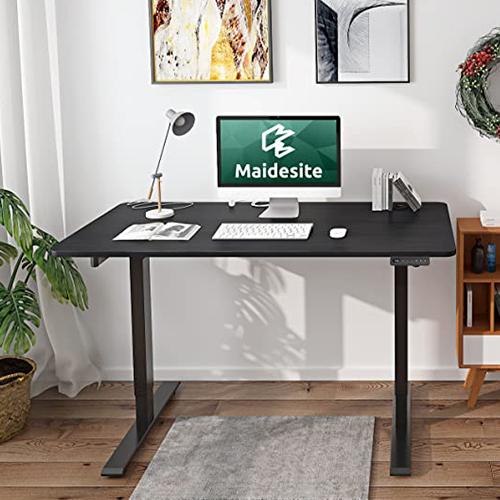 bureau assus-debout maidesite étudiant avec lampe et ordinateur