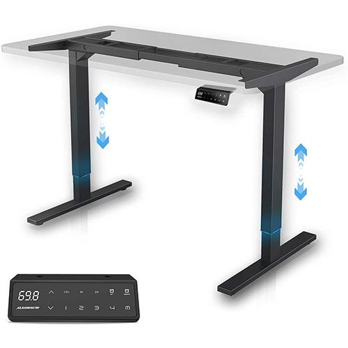 bureau assis-debout maidesite réglage hauteur panneau électrique