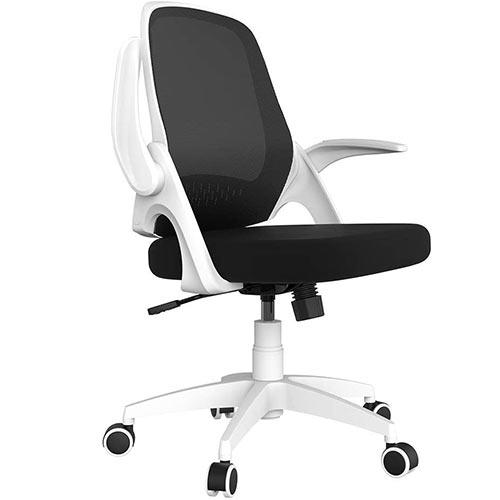 Chaise de bureau ergonomique Hbada blanc et noir ergonomique