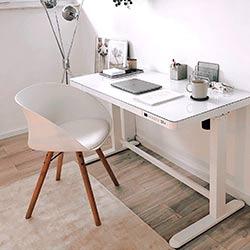 Bureau-assis-debout-Flexispot-EG8-blanc-verre