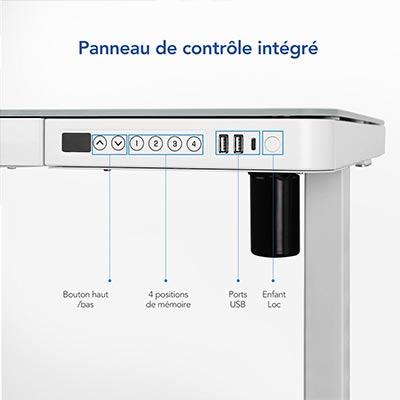 Bureau-assis-debout-Flexispot-EG8W-caractéristiques-panneau-de-controle