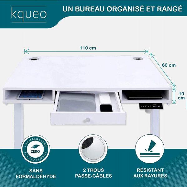Bureau-assis-debout-electrique-KQUEO-Space-Lift-110-blanc-rangement-dimensions-plateau