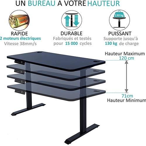 Bureau-assis-debout-électrique-Kqueo-K-Lift-X2-noir-hauteur