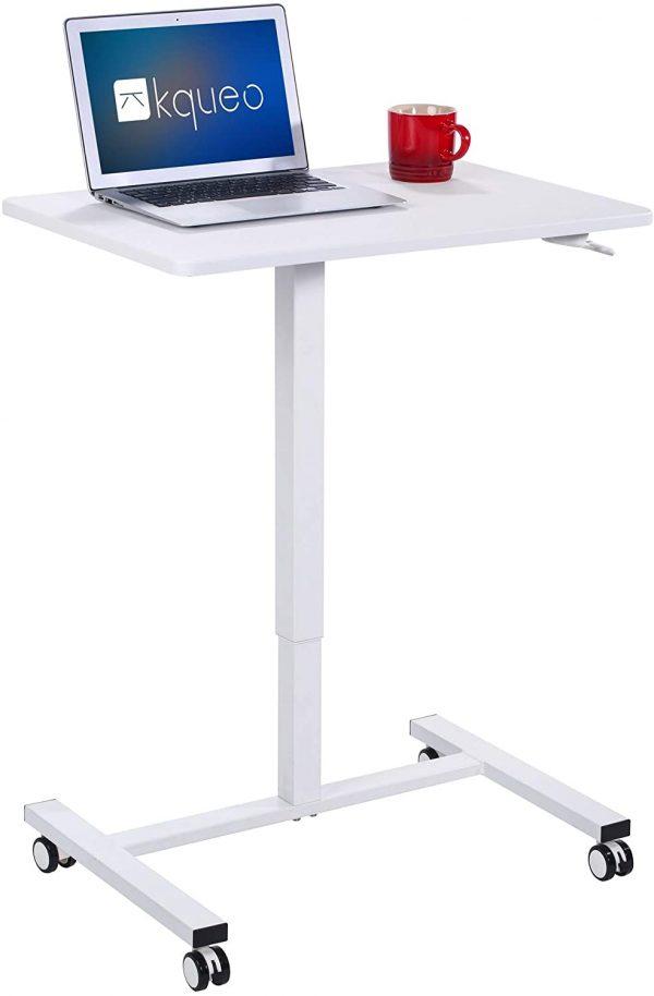 Bureau assis-debout mécanique KQUEO LIFT BP 69 blanc principale