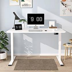 Cadre-de-bureau-assis-debout-électrique-MAIDeSITE-T2-PRO-Basic-blanc