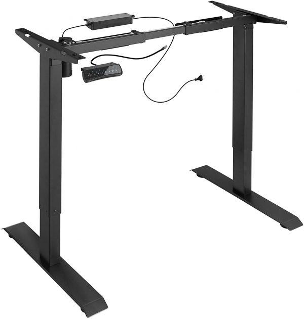 Cadre de bureau assis-debout électrique TecTake Noir 800665 visualisation