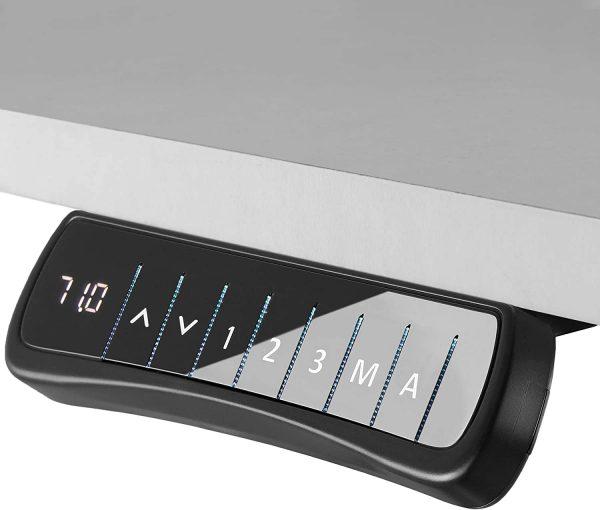 Cadre de bureau assis-debout électrique TecTake Noir cadran