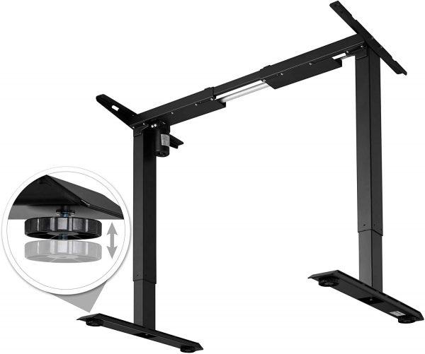 Cadre de bureau assis-debout électrique TecTake Noir fonction