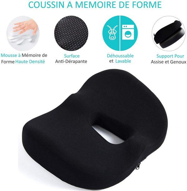 Chaise de bureau Kqueo coussin mémoire de forme