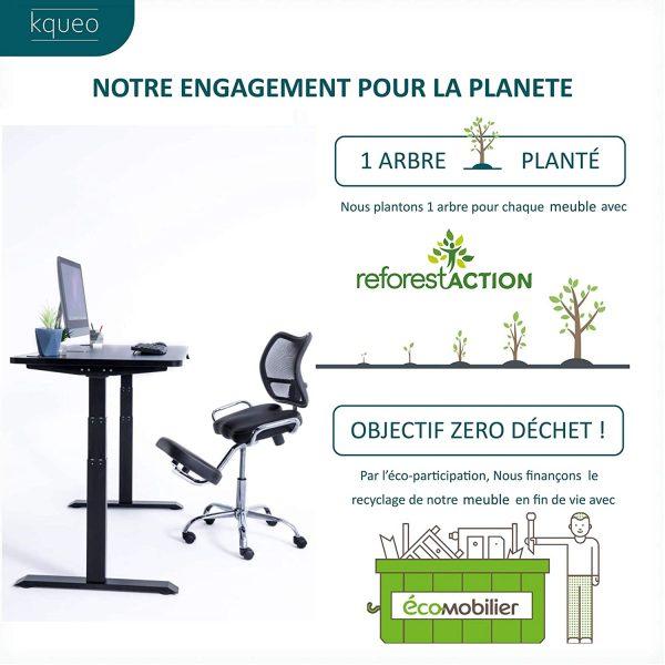 Chaise de bureau Kqueo engagement environnement