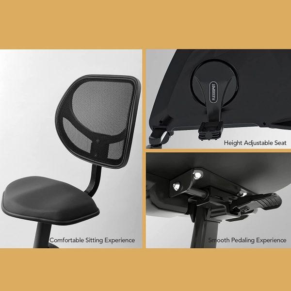 Flexispot Sit2GO velo de bureau noir caractéristiques