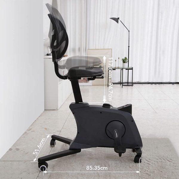 Flexispot Sit2GO velo de bureau noir dimensions