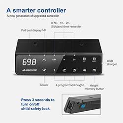 Panneau-de-controle-LED-bureau-assis-debout-électrique-MAIDeSITE-T2-PRO-Pro