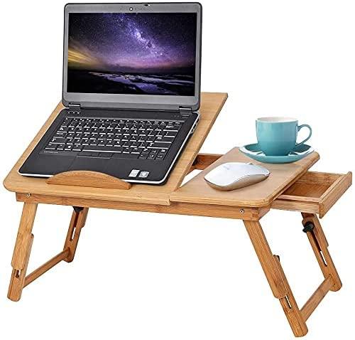 Support de Pc table de lit Gototop en bois naturel bambou