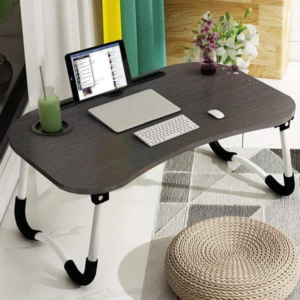 Table de lit Astory noir tablette clavier