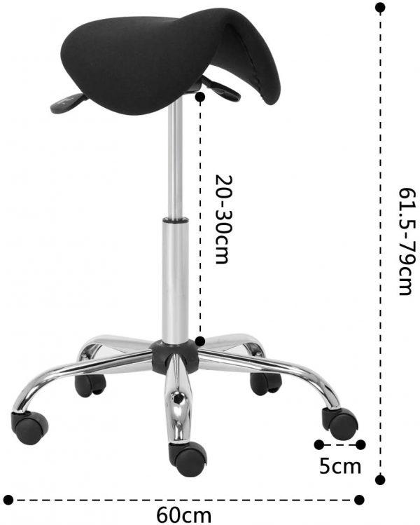 Tabouret de bureau assis-debout Amoiu dimensions