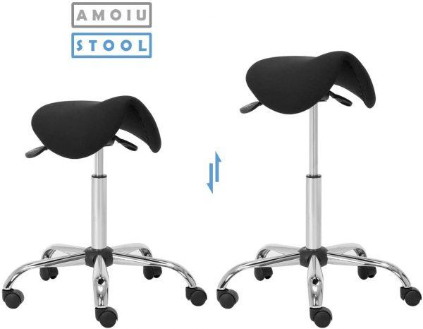 Tabouret de bureau assis-debout Amoiu hauteur réglable
