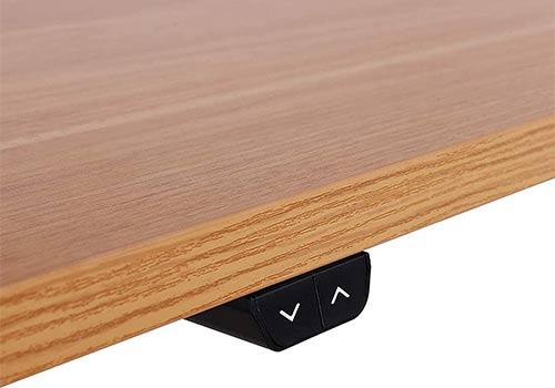 bureau assis-debout électrique avec bouton pour monter ou baisser la hauteur du bureau
