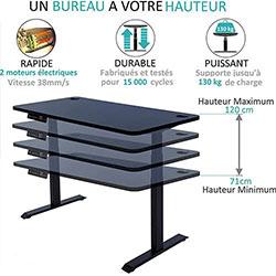 Bureau-assis-debout-électrique-Kqueo-K-Lift-X2-noir-hauteur-250