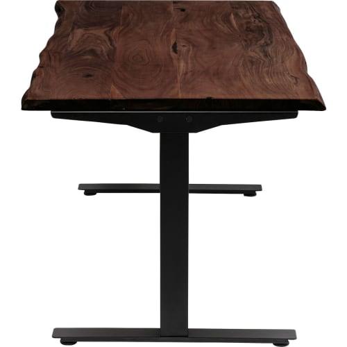 bureau-reglable-assis-debout-acacia-brut-et-acier-noir-l160
